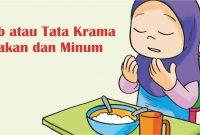 adab tata krama makan dan minum dalam islam